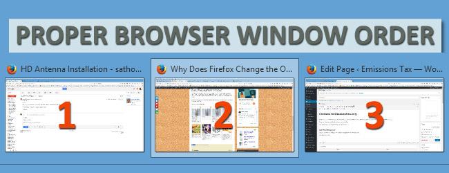 Proper Firefox Browser Order