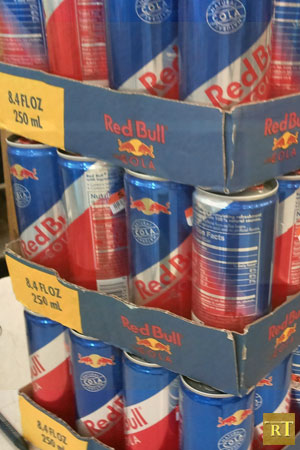 Stack of Red Bull Cola