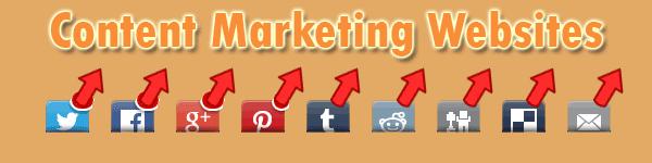 Social Media Content Marketing Websites – Design Projects
