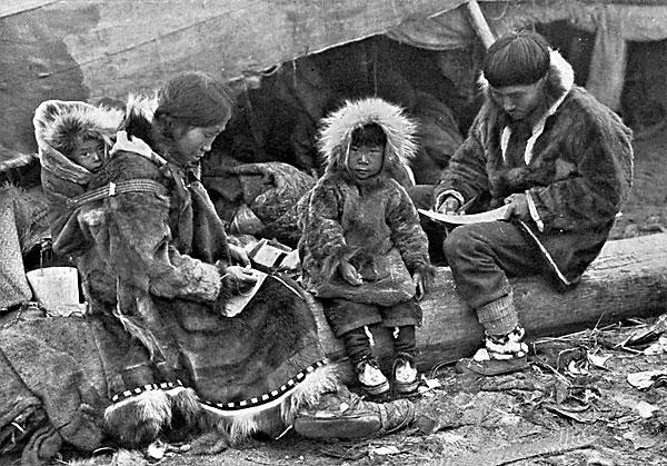 Eskimos in Alaska