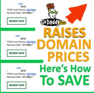 GoDaddy Domain Price Raise