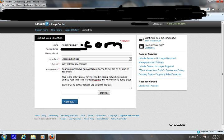 Goodbye LinkedIn