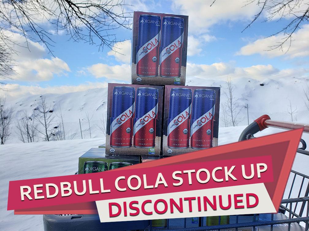 Red Bull Cola Organics Closeout Sale
