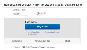 Buy Redbull Cola